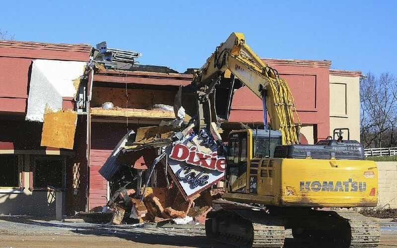 PMI Demolition Crews Tear Down Restaurant